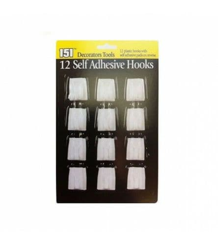 12 Self Adhesive Hooks, Wall Hooks, Tools Hooks, Door Hangers,